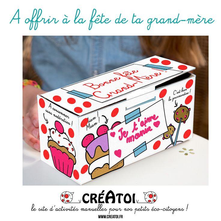 La boîte à gourmandises de grand-mère Une boîte de céréales recyclée, le tuto de CRÉATOI et ta créativité pour fabriquer un cadeau super original à tes mamies !