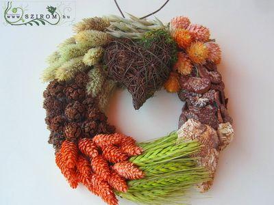őszi kopogtató, mohaszívvel (17cm)