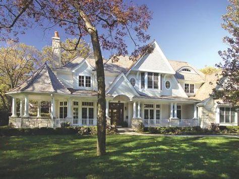 Wrap Around Front Porch | gazebo porch + stone + columns