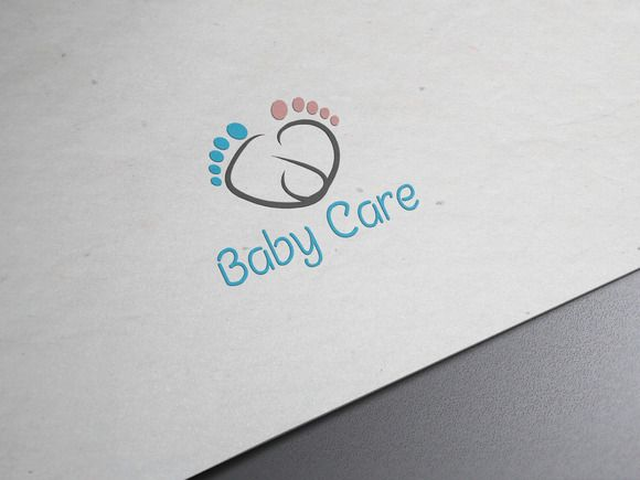 Baby's Footwear Logo Template by rjsoni on Creative Market