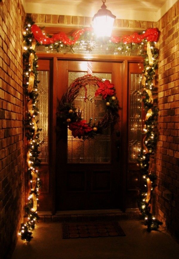 Gorgeous Christmas Door Decor 2013 Rustic Wreath