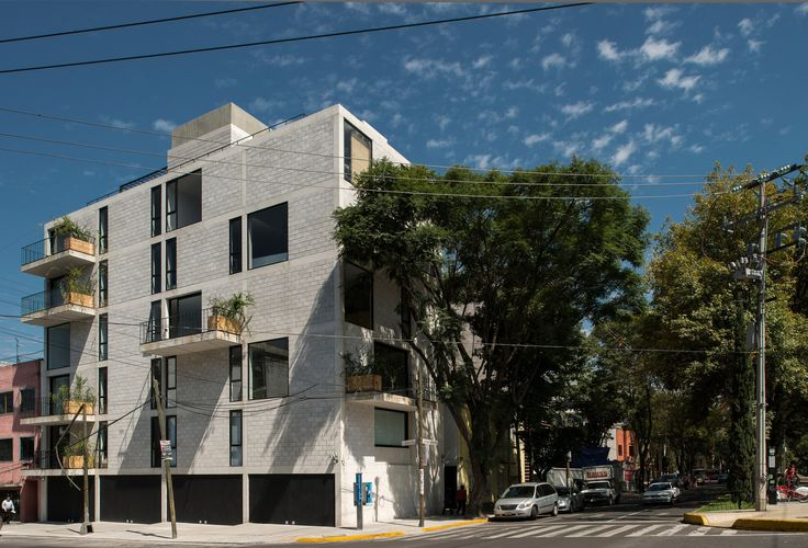 Built by Ambrosi I Etchegaray in Mexico City, Mexico with date 2012. Images by Luis Gordoa. The commission was to design a building for 8 dwellings on the corner of Alfonso Reyes Avenue and Saltillo Street, in...