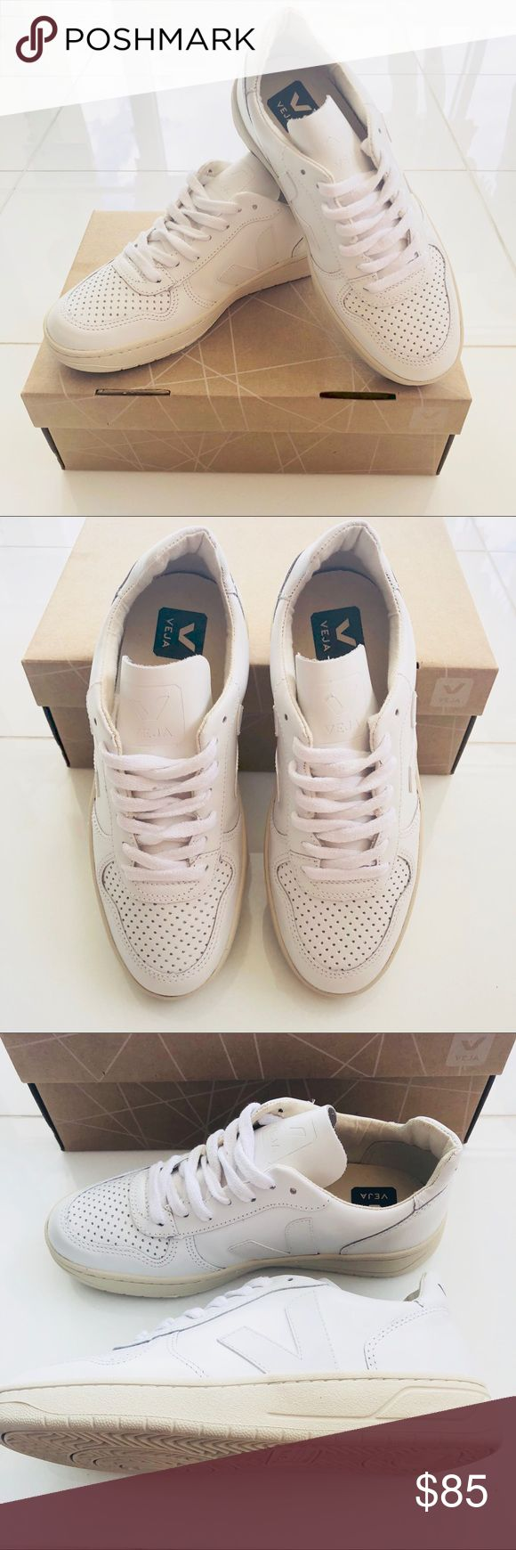 VEJA V10 Extra White Tennies Super cute shoes for any look! Marked down, eco friendly made shoes are the definition of guilt free shopping!  *All shoes come in original box* *No trades, Price is firm* Veja Shoes Athletic Shoes