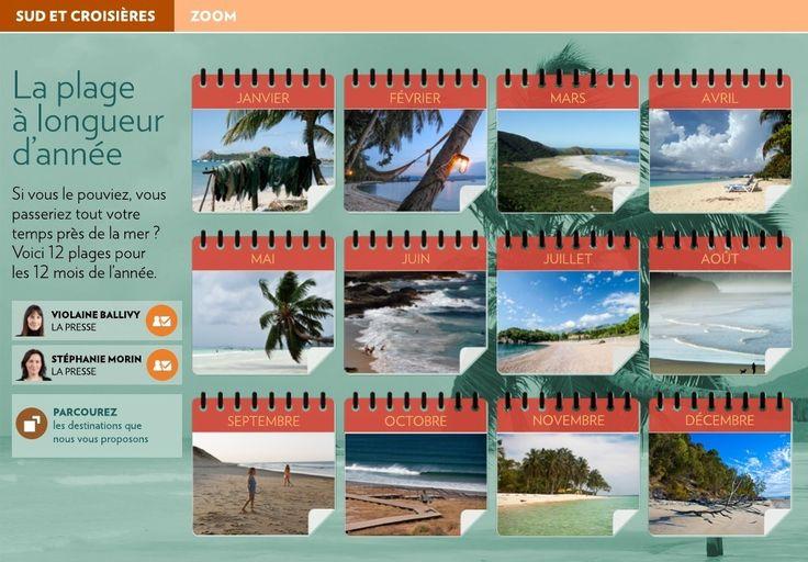 La plage à longueur d'année - La Presse+