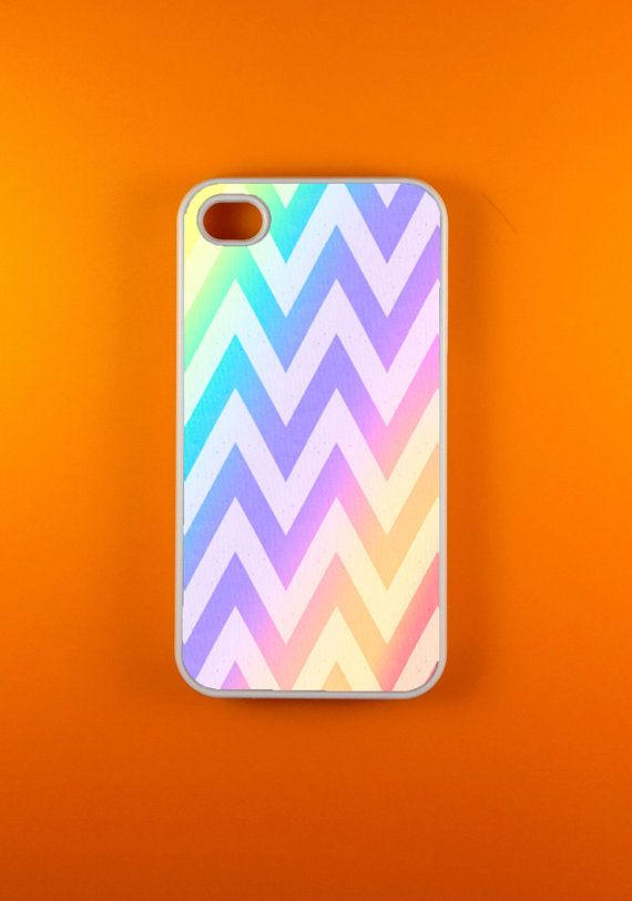 Iphone 4 Case  Rainbow Chevron Iphone 4s Case by WunderCases, $14.99