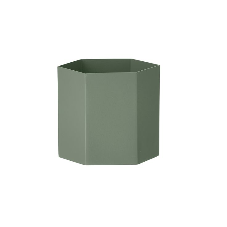 Hexagon Kruka L, Grön, Ferm Living