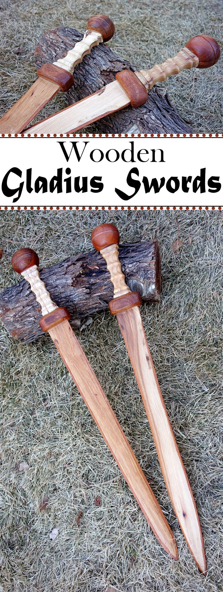 These wooden swords are great as props.