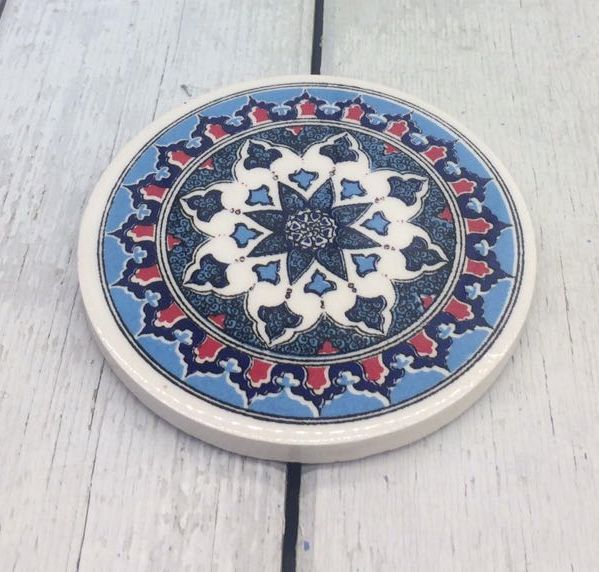 TURKISH CERAMIC COASTER, 0034