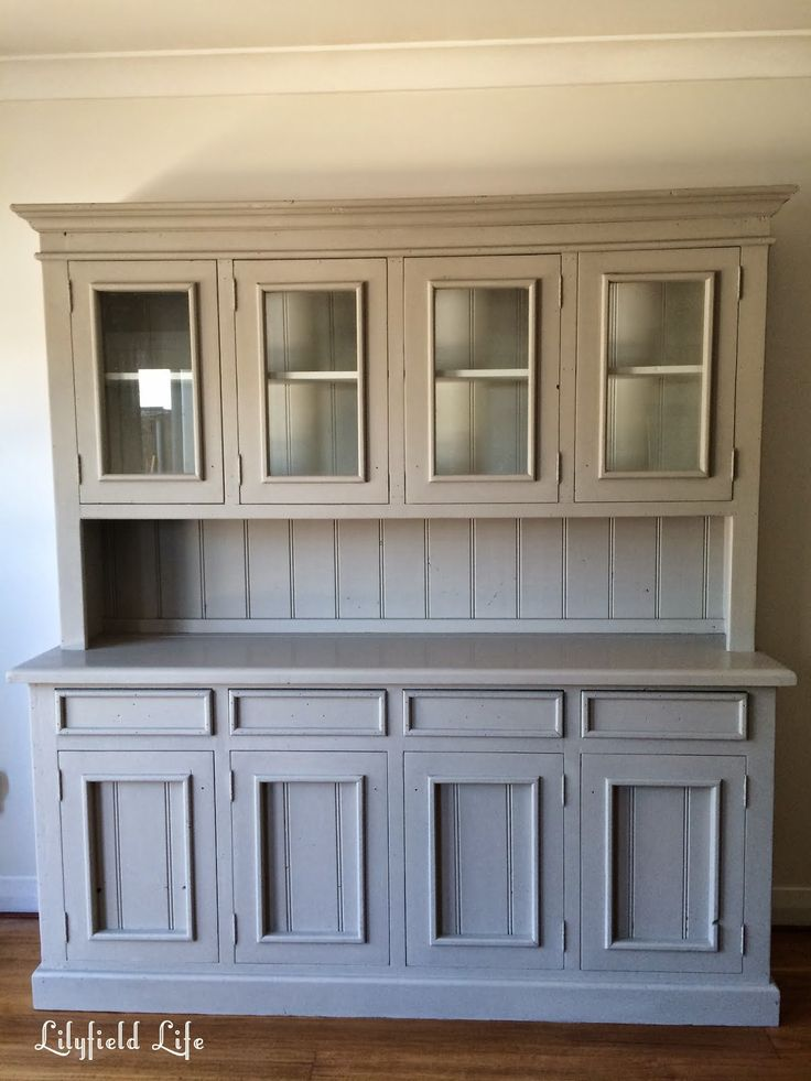 painting pine furniture. hand painted french style pine hutch by Lilyfield Life