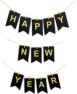 amazoncom bestoyard new year banner happy new year hanging decorations for new years