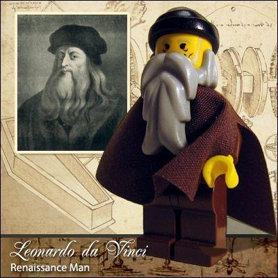Celebridades en Lego : Da Vinci