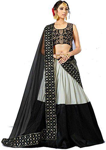 Divaa Black & White Color Banglory Embroidered Lahenga #Lehenga #Black #Embroidered