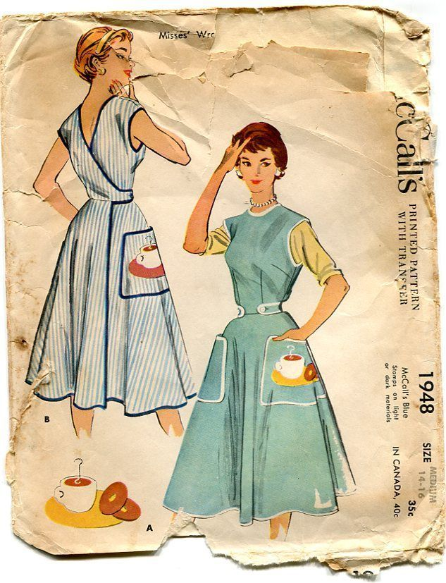 Wrap Dress Pattern Free 1950 S Vintage Pattern Swirl