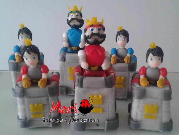 adorno de torta clash royale torres