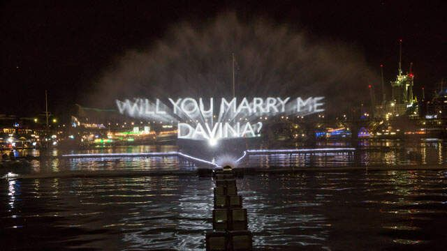 You never know what surprises there will be... And yes, she said yes!