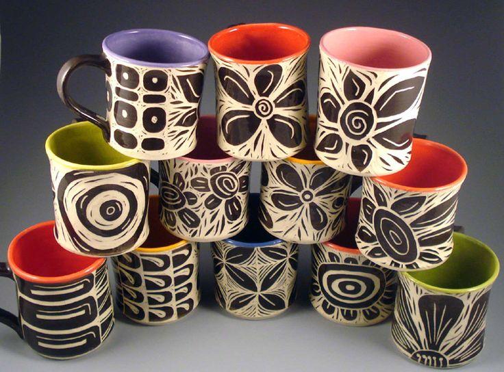 Best Mug Painting Ideas Images On Pinterest Pottery Ideas