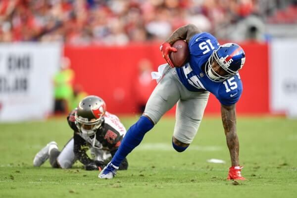 Brandon Marshall carted off with lower leg injury-Dr. Parekh = Giants WR Brandon Marshall was carted off with a lower leg injury. By video, looks like ankle sprain. Long shot to.....