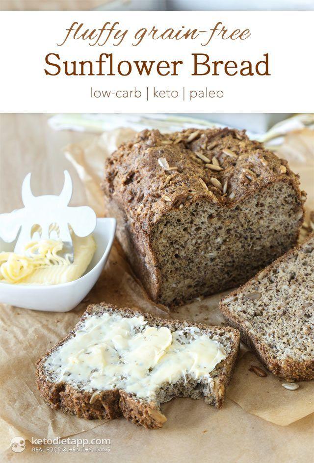 Fluffy Grain Free Sunflower Bread