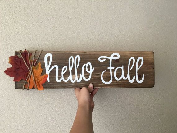 Hello Fall Sign by samswoodsignz on Etsy