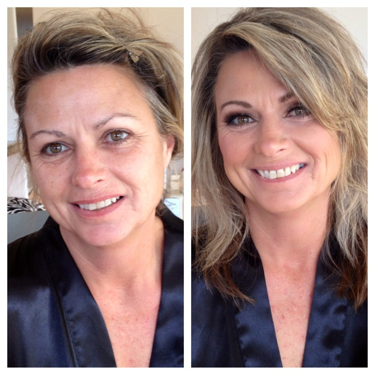 Before and after photo from a #makover for #Boudoir shoot I was the #makeupartist for