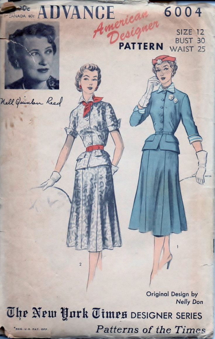 136 besten Vintage Sewing Patterns 1940\'s & 1950\'s Bilder auf ...