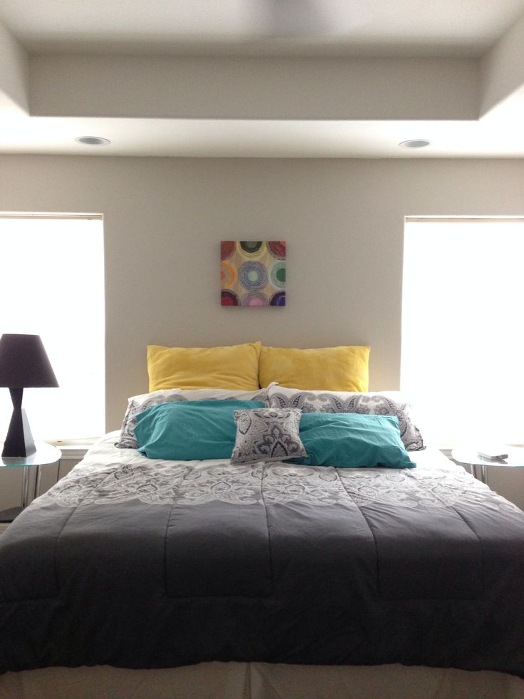Gray and teal bedroom ideas for Teal bedroom