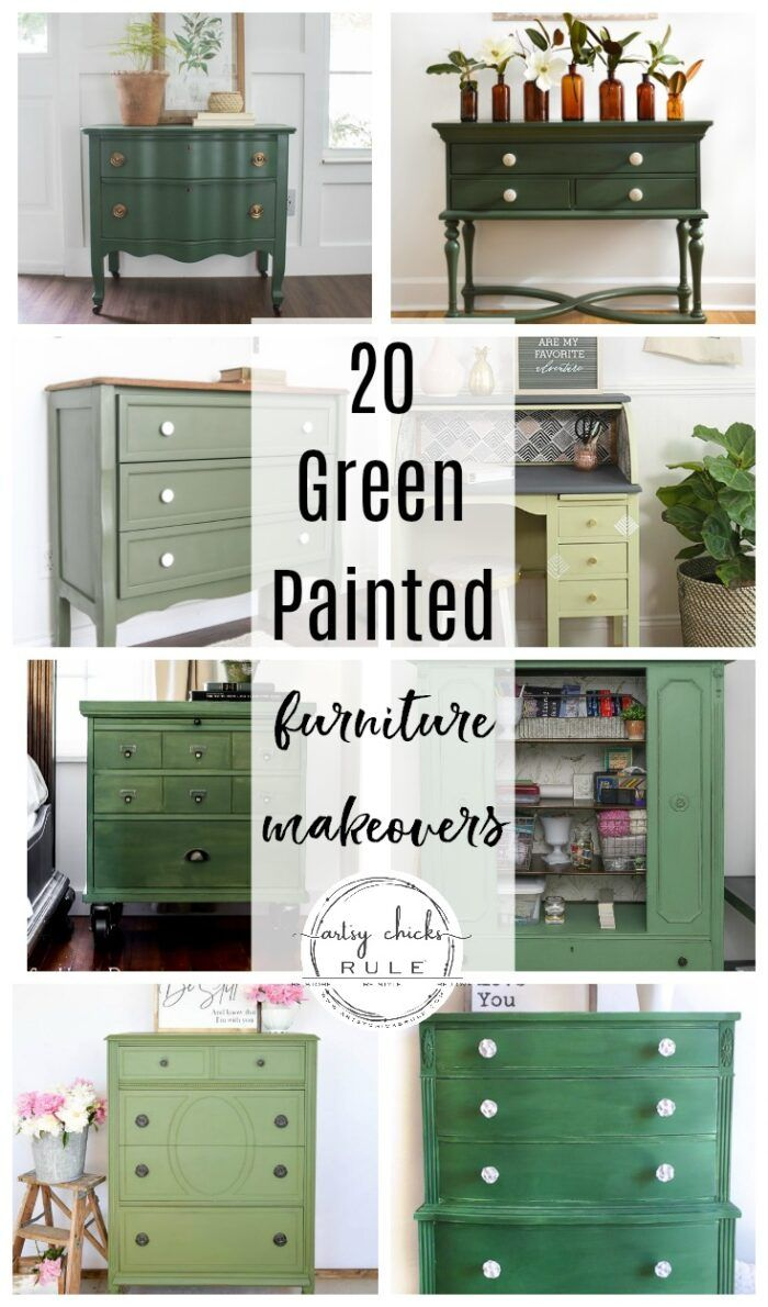 20 Green Painted Furniture Ideas In 2020 Green Painted Furniture