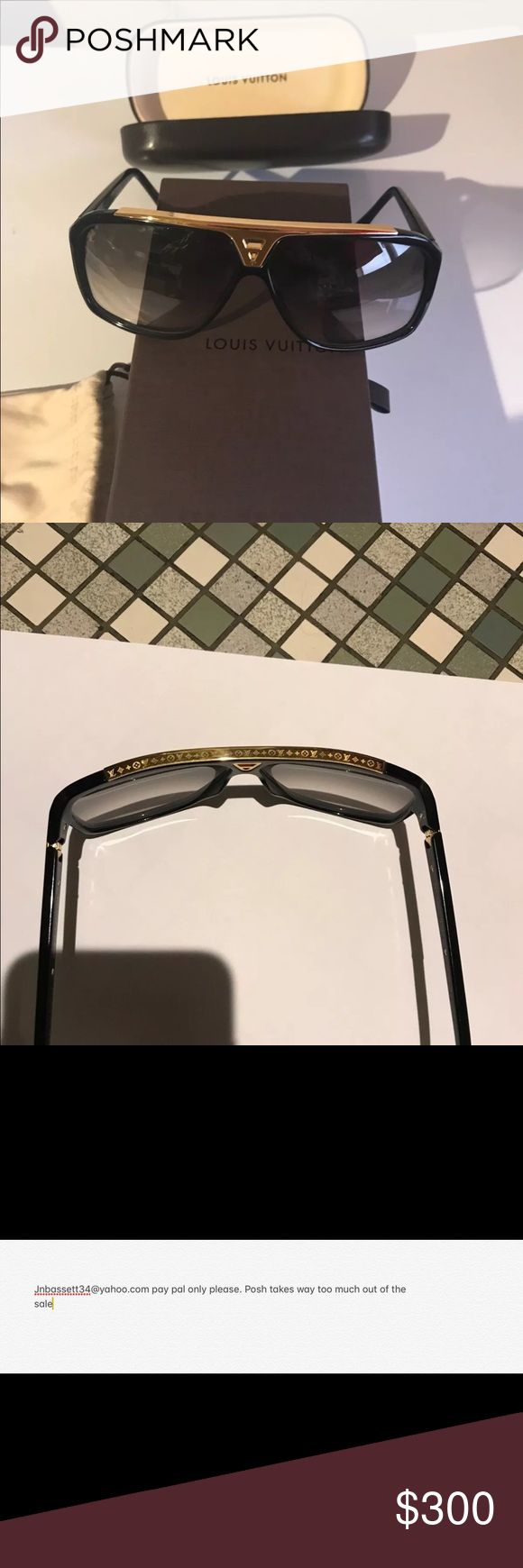 Evidence Louis Vuitton Sunglasses New not even used.  Comes with original packaging  Please eee mail me instead Louis Vuitton Accessories Sunglasses