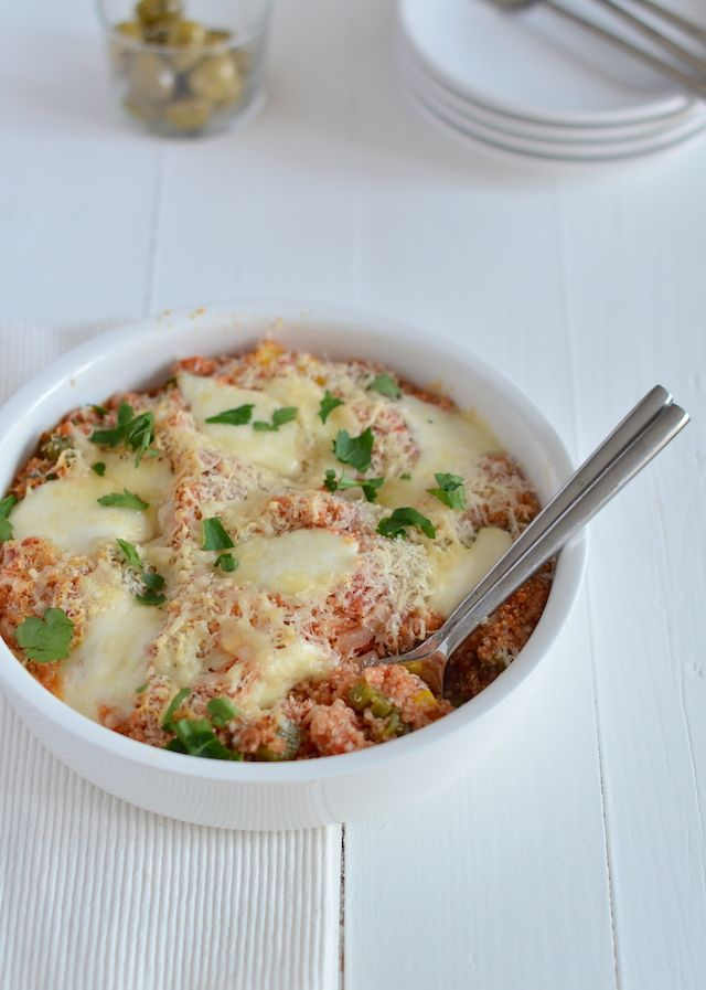 italiaanse quinoa ovenschotel