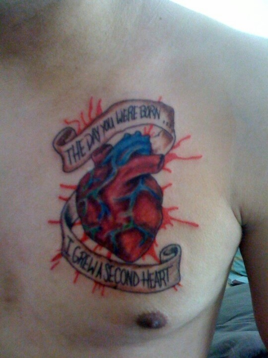 Chest Tattoo I Got For My Son!♥ After He Was Born! Hes 5yr