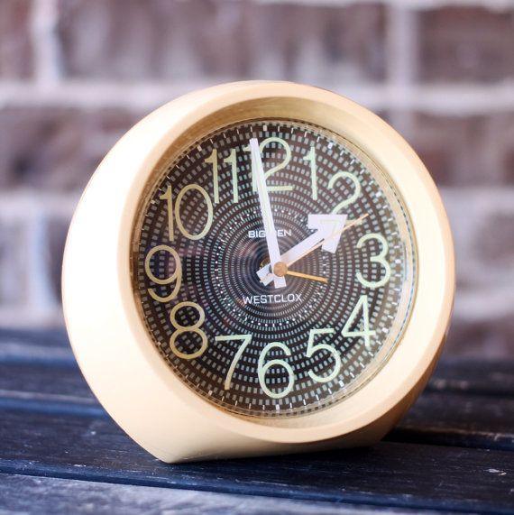 Westclox Big Ben Round Wind Up Alarm Clock - Travel Alarm Clock