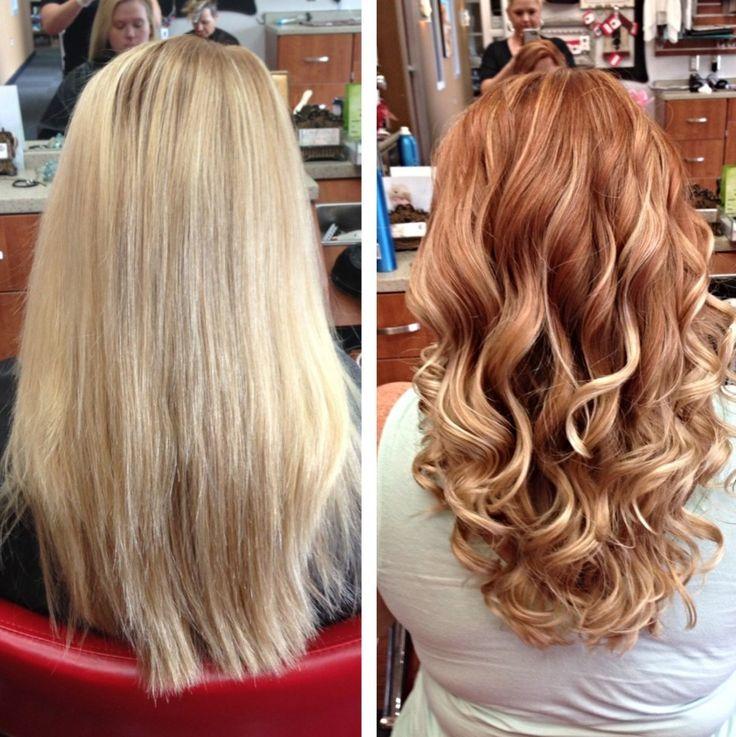 awesome Рыжий цвет волос: все оттенки и мелирование (50 фото)