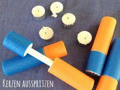 Spiel: Kerzen ausspritzen