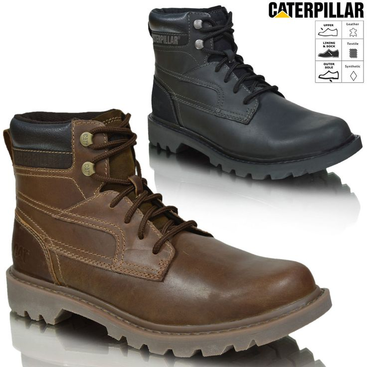 New Mens Caterpillar CAT Bridgeport Leather Army Military Ankle Boots Sizes UK