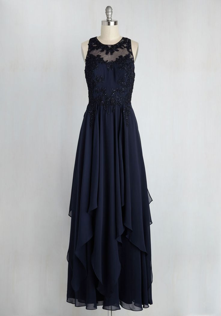 Advocate of Extravagance Dress in Navy