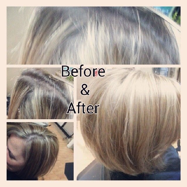 Hair Retouch : Blonde Highlight Retouch! Hair by Janis Pinterest