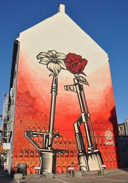 Shepard Fairey OBEY street art.  He is from Charleston!!