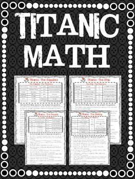 *FREE* Titanic Math! A set of four worksheets that explore the Titanic by the numbers! An easy way for your students to work on math skills and learn about the Titanic at the same time! Grades 4+