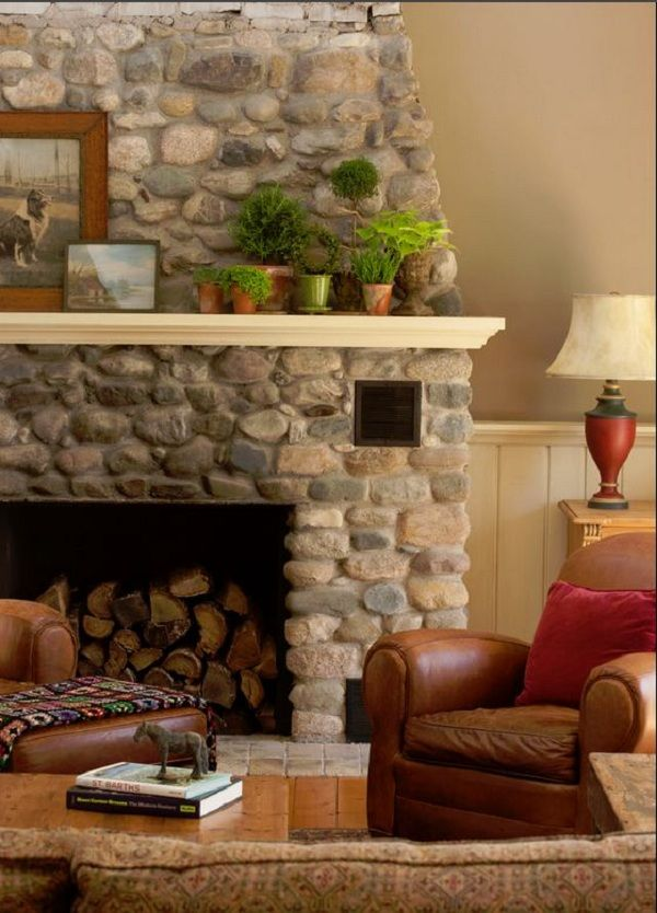 Best 25 River Rock Fireplaces Ideas On Pinterest River