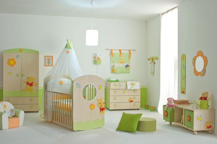 Gorgeous Boy Baby Nursery Ideas With Winnie The Pooh Theme Furniture Set Also White Canopy On Crib Baby Gorgeous Boy Baby Nursery Ideas Providing Utter Comfort and Safety Baby Nursery