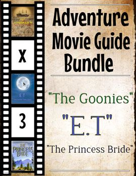 Come get this discounted offer of 3 sets of adventure movie guides (The Goonies, The Princess Bride, E.T)