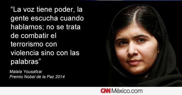 Frases De Paz: Las 17 Frases De Malala Yousafzai, La Nobel De 17 Años