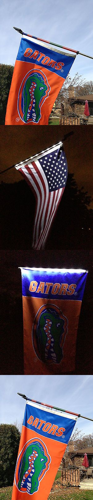 Jerseys 60597: University Of Florida Flag With A Solar Powered Flagpole ( Includes U.S. Flag ) -> BUY IT NOW ONLY: $69.99 on eBay!