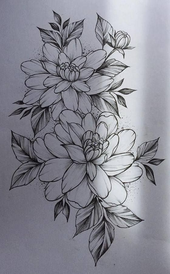 Flower tattoo design.