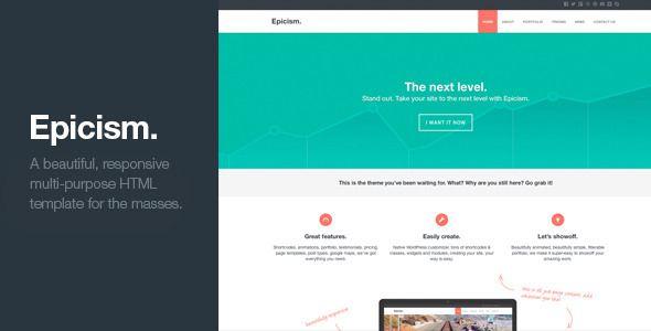 Epicism - Responsive Multi-Purpose HTML Template