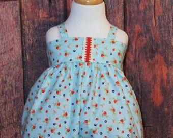 Mameluco de fresa | Mameluco del bebé | Romper la burbuja | Vestidos | Fresas | Equipo de país | Mameluco de verano | Traje de chica de bebé | Peleles