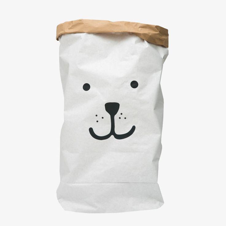 Papieren opbergzak van Tellkiddo / Bear Paper Bag