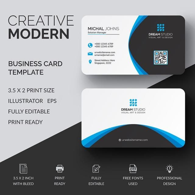 Modern Business Card Business Cards Vector Templates Modern