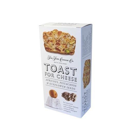As tostas 'Toast' são finas, leves e crocantes, mas o que as torna realmente únicas é a sua composição: 60%  das tostas são frutas, nozes e sementes. Ideais para acompanhar Queijos delicados de leite de vaca como Valençay, Crottin de Chavignol & Ragstone.