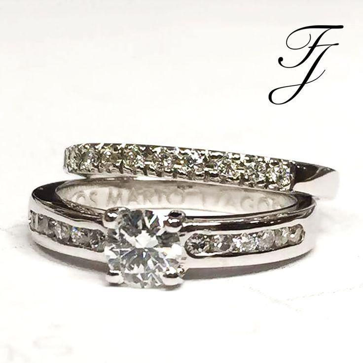 Una combinación perfecta: Algunos anillos están diseñados para encajar, lado a lado. Muchas novias tienen gusto por la simetría de dos anillos que se emparejan, con los diamantes del mismo tamaño y forma, o apenas el mismo tipo de metal.  👰🏽🎇💍 #ArgollasDeMatrimonioCali #AnillosDeCompromisoCali #JoyeriaNoviasCali